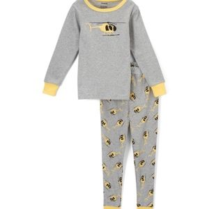 Leveret gray helicopter pajamas